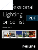 Philips Professional Lighting Price- Sept 2013 (1)