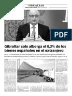 150422 La Verdad- Gibraltar Solo Alberga El 0,2% de Los Bienes Españoles en El Extranjero