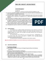 GTU Recruitment Norms