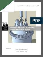 Diseño rápido de un reactor continuo