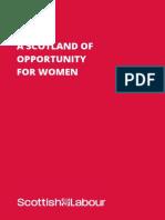 Scottish Labour Women's Manifesto