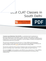 Best CLAT Classes in South Delhi