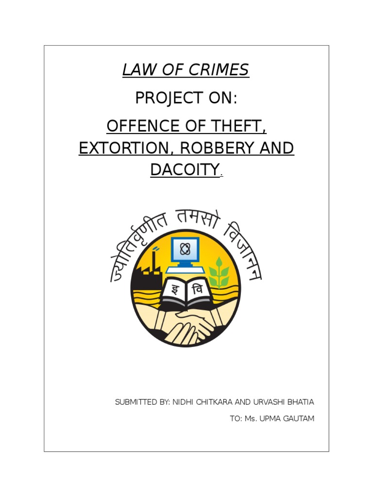 theft ipc notes