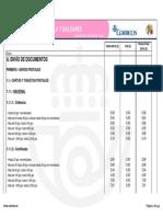Tarifas Correos 2014 Peninsula y Baleares
