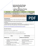Understanding by Design Digital Citizenship