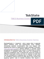 TIBCO Business Events Training
