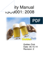 golden dub quality manual