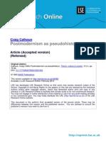 Calhoun Postmodernism as Pseudohistory
