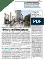 """""""Pesaro Studi resti aperta"""" - Il Resto del Carlino del 21 aprile 2015"""
