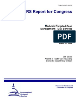 Medicaid Targeted Case Management Report to Congress 2008