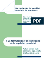 Constitucionprincipio de Legalidad Penal