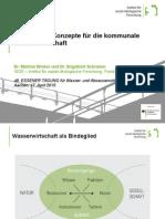 Nachhaltige Konzepte für die kommunale Wasserwirtschaft