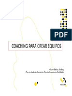 Coaching para crear equipos Alvaro Merino Jimenez