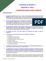 Chapitre 11 - La Communication Hors-médias