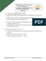Matemática 10º ano Teorema do Resto