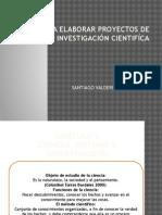 Pasos Para Elaborar Proyectos de Tesis de Investigación Resumen