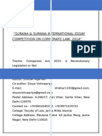 Essay on Companies Act, 2013