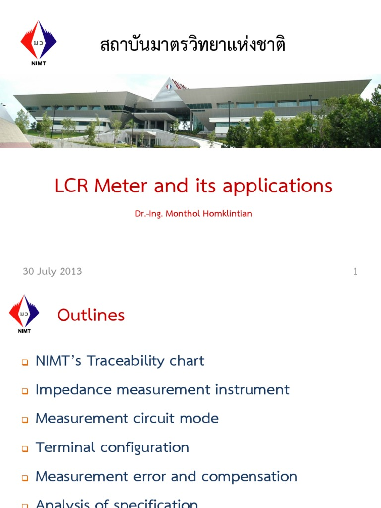 Lcr Meter And Its Application 30july13 Hertz Electrical Impedance Inductance Circuit