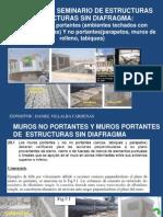 Seminario Estructuras Sin Diafragma, Muros de Contención(Nov 2010)