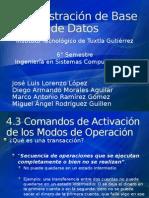 Administración de Base de Datos 4.3 y 4.4