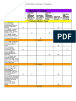 eportfolio matrix alignment - standard 1 - sheet1