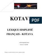 Lexicon French - Kotava