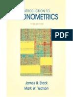 Stock & Watson - Introduction to Econometrics