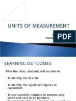1) Units of Measurement