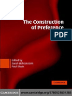 Lichtenstein & Slovic - The Construction of Preference