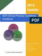 ADA Clinical Practice Guidelines Handbook-2013.Ashx