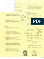 2015 end of year schedule and essays
