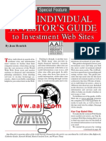 Individual Investor´s Guide To Investment