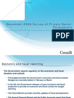 Read the Finance Department's recent survey of private sector forecasters