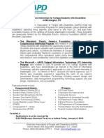 2010 AAPD Summer Internships for College Students