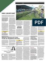 18-04-2015 - El Comercio - 5 Distritos de La Capital Integrarán Sus Ciclovías