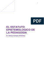 El Estatuto Epistemologico de La Pedagogia