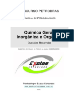Amostra Petrobras Quimico de Petroleo Quimica Geral Organica Inorganica