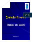 Construction Economics Intro