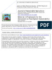 Gliessman, S. a Framework for the Conversion to Food System Sustainability