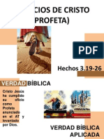 Los Oficios Cristo Como Profeta