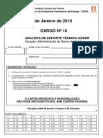 Prova PUC Analista de Suporte - Banco de Dados