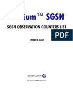 Sgsn Observation Counters List -ALU