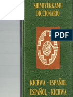 Diccionario Castellano-kichwa Alki
