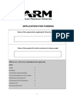 Application for Funding