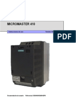Manual de Usuario Micromaster 410