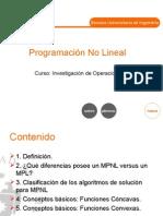 Programacion No Lineal