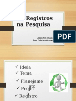 Registros - Caderno de Campo