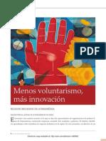Menos Voluntarismo, Mas Innovacion
