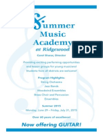 Summer Music Academy 2015