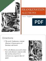 frankenstein - allusions